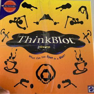 Thinkblot Game Mattel 2000 Ink Blot rorschach test